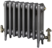 Eastgate Victoriana 3 Column 8 Section Cast Iron Radiator 450mm High x 516mm Wide - Metallic Finish